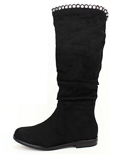 Cendriyon Botte Noire Super Nana Moda Chaussures Femme