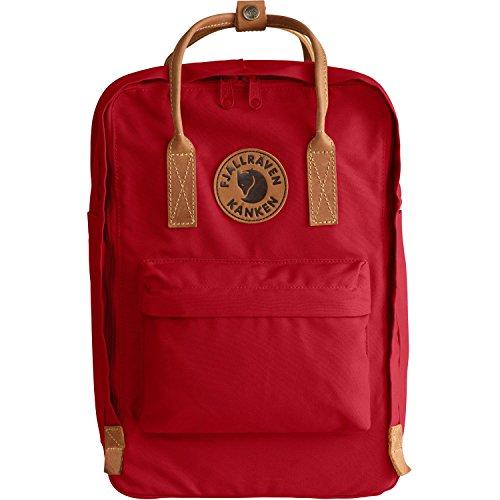 FJÄLLRÄVEN Kånken No.2 Laptop 15 Rucksack, Deep Red, 40 x 28 x 16 cm, 18 L