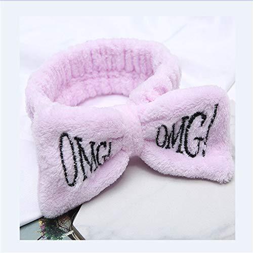 YUNGYE Weiche Bogen-Stirnbänder for Frauen-Mädchen-Turban-Nette Haar-Halter-Haarband-Haarband Headwear-Haar-Zusätze (Color : Light Purple, Size : One Size)