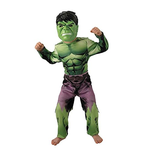 Rubie's- Marvel Costume Hulk per Bambini, Multicolore, S, IT888911-S