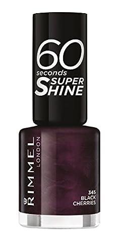 Rimmel 60 Seconds Super Shine Nail Polish - 8 ml, Black Cherries
