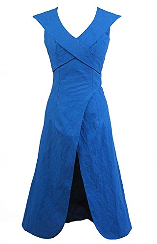 Game of Thrones Daenerys Targaryen Dress Kleid Blau Cosplay Kostuem (Game Of Thrones Kostüm Details)