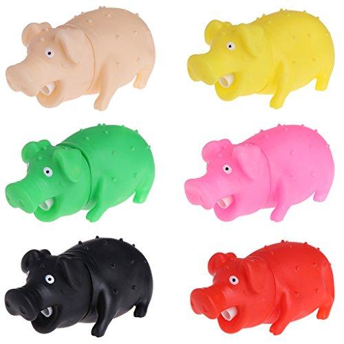 Sqiuxia Hundespielzeug, Schweine-Form, quietschend, weich, Kaugeräusch, 2 Größen
