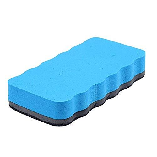 Los compañeros de clase Naisicatar Borrador magnético del tablero blanco del borrador de la esponja pizarra de borrado en seco bayeta seca Cleaner Limpiador de goma de borrar el pizarrón Azul Cepillo