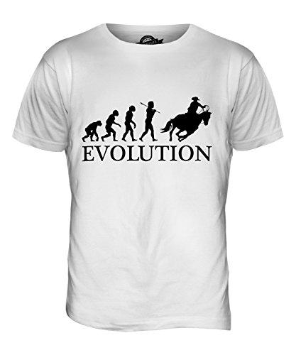 CandyMix Cowboy Evolution Des Menschen Herren T Shirt Weiß