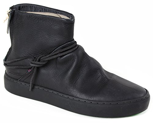 SATORISAN 162019 Silver lake black nero scarpe stivaletti donna pelle 38