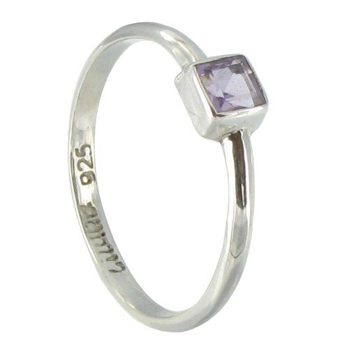 Les Poulettes Jewels - Sterling Silver and Amethyst Ring