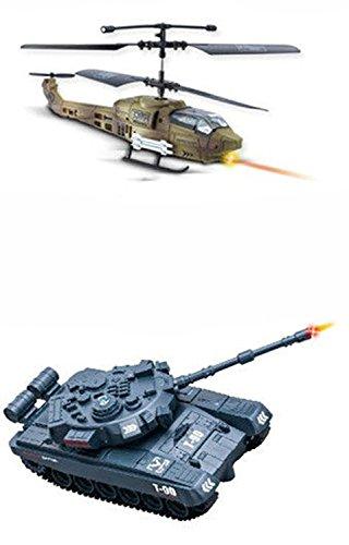 RC ferngesteuerter Hubschrauber vs Panzer, Infrarot Battle-Set, Schußsimulation, Sound und Beleuchtung, Komplett-Set