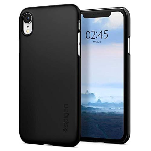 Spigen Thin Fit, iPhone XR Hülle, 064CS24864 Slim PC Schale Hardcase Leichte Schutzhülle Schlank Elegant Handyhülle Case (Schwarz)