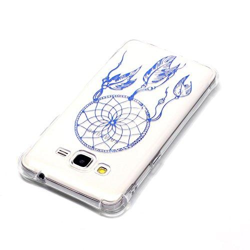 CaseHome Coque iPhone 7 (4.7 Pouce) en Silicone Housse [avec Gratuit Protections D'écran],Glitter Sparkle Métal Effect de Imprimé Coloré Motif Coussin D'air Coin Cristal Clair Ultra Mince Antichoc Tra Bleu Attrapeur de Rêves