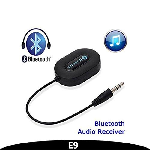 HKFV BM-E9 Bluetooth 3.0 Musik-Empfänger 3,5 mm Adapter Freisprecheinrichtung Auto AUX-Lautsprecher BM-E9 3,5 mm Audio Auto MP3 Player Adapter Auto Bluetooth Empfänger