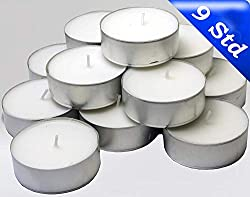 wei/ß Hansa Candle 100 Teelichter im Alubecher 15 mm x 37 mm 4 Stunden Brenndauer