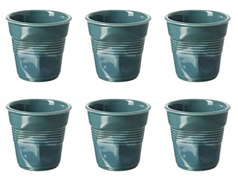 Revol Froisses Set de 6 tasses à expresso Vert lagune