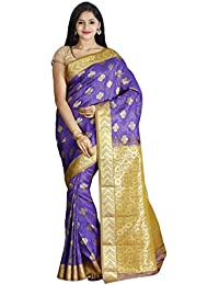 Eha Kanchipuram Silk Saree With Beautiful And Elegant Zari Border, Butta And A Blended Zari Pallu Made With Traditional...