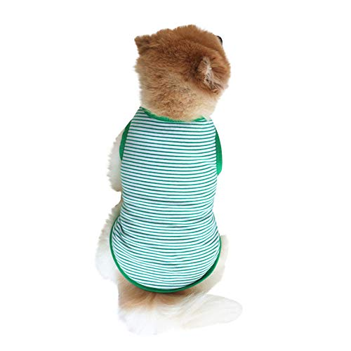 EUZeo Lovely Puppy Summer Gestreifte Weste Kleine Hundekatze Pet Kleidung Weste T-Shirt Hundebekleidung Cute Casual Hündchen Haustier Hund Katze Pet Kleidung HaustierpulloverHundepullover Hundeshirts