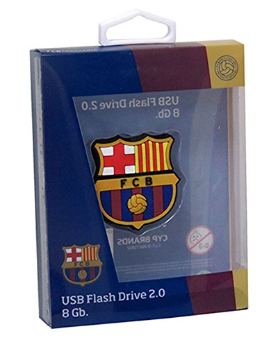 Futbol Club Barcelona Pendrive Rubber with form of Coat of Arms  CYP Imports usb-01-bc