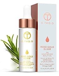 Paolian 15ML Or Rose Levres Avant d'huile de Maquillage Teint Hydratant Liquide Base de Maquillage Résistance...