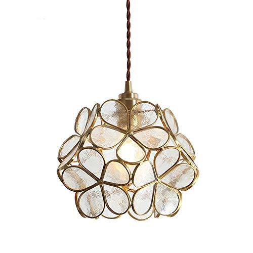 YAYONG Moderne kronleuchter Lampe japanischen Stil Blume Glas Lampe warmes Schlafzimmer Veranda Gang kinderzimmer Beleuchtung,White -