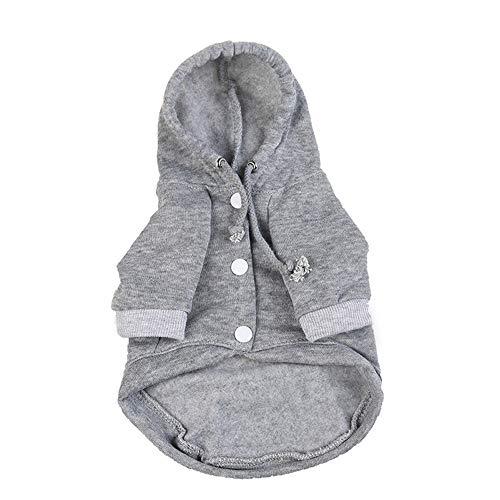 Dragon868 Hund Tierkleidung Hoodie Warm Fleece Puppy Coat Bekleidung ()