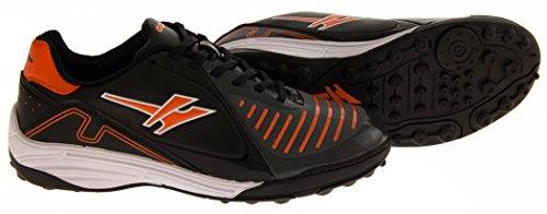 Footwear Studio, Scarpe da calcio bambini Nero (Black & Orange)