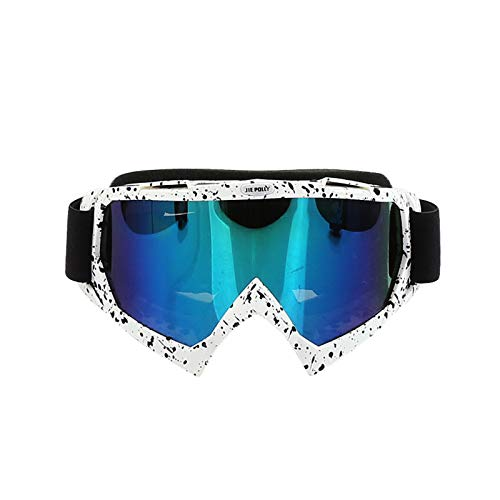b23cdcf152 Blisfille Gafas de Moto Fotocromaticas Gafas Moto Azules,Blanco Negro