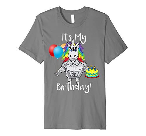 Funny Unicorn IT 'S MY BIRTHDAY Einhorn Party T-Shirt