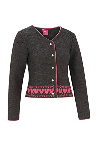 Edelheiss Damen Strickjacke anthrazit-pink Joy 124628