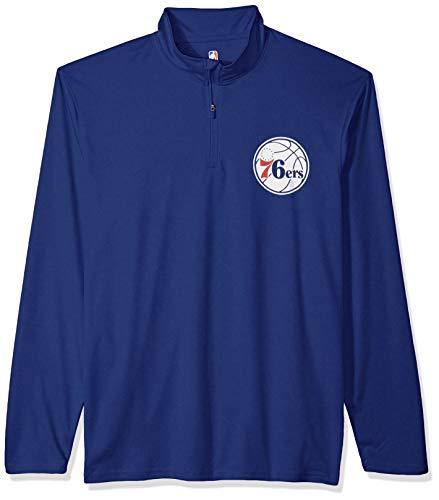 Ultra Game NBA Herren Pullover, Quarter Reißverschluss, schnell trocknend, Herren, Men's Quarter Zip Poly Knit Long Sleeve Shirt, Team Color, X-Large - Long Sleeve Knit Shirt