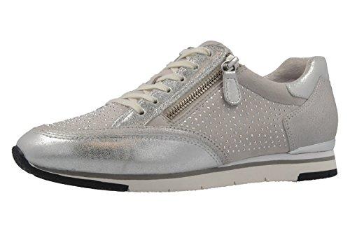 GABOR - Damen Sneaker - Silber Schuhe in Übergrößen, Größe:42.5