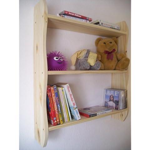70cm H Estantería con baldas, muebles de habitación infantil estantes, Niños, almacenamiento de juguete, Nursery, pino