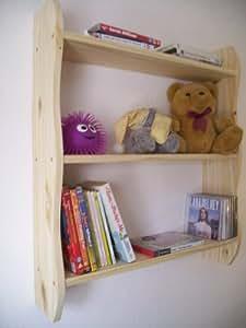 70 cm de hauteur en pin avec étagère, Étagère pour chambre d'enfant Meubles de rangement pour chambre d'enfant, bibliothèque