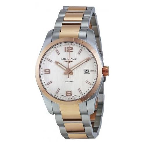 LONGINES MEN'S ROSE GOLD BRACELET & CASE AUTOMATIC ANALOG WATCH L27855767