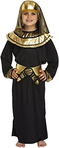 Boys Black Egyptian Pharaoh Fancy Dress Costume for Childrens School National Dress Up Outfit 7-9 Years by Partypackage - National Kostüm Dress Up