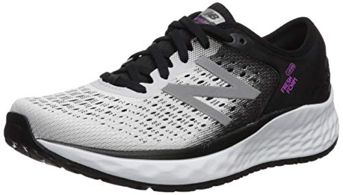 New Balance Fresh Foam 1080v9, Scarpe Running Donna, Bianco (White/Black/Voltage Violet), 40 EU