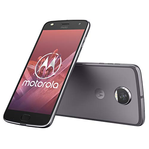 Motorola Moto z2 Play 13,97 cm (5,5 Zoll) Full HD Smartphone (Octa-Core Prozessor, 12MP Kamera, 4G LTE, NFC, 64GB Speicher, JBL SoundBoost, Dual-Nano-SIM, Android 7.1 Nougat) grau Nano 4 Snap