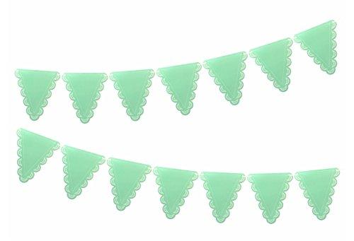 """e Wimpelkette mit Weißem Spitzen-Perlen-Muster aus der Serie """"White Lace"""" ()"""