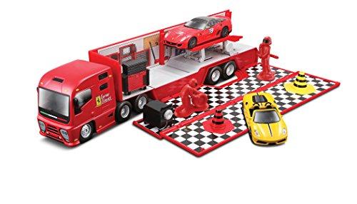 bburago-15631202-ferrari-race-play-camion-de-transporte-con-vehiculo-incluido-importado-de-alemania
