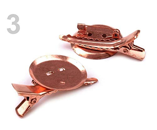 2stück 3 Kupfern Brosche Klammer Nadel 25x40mm Universal, Broschenklammern, Schmuck Zubehör, Perlen -