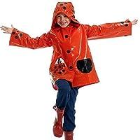 Scribble Kids Ladybird Design Waterproof Coat, Raincoat Mac Jacket, 4 - 9 Years (Medium))