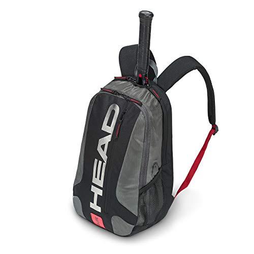 HEAD Unisex- Erwachsene Elite Backpack Tennistasche, black/red, Einheitsgröße