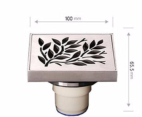 KHSKX-Der Abwasserkanal Deodorant Gewidmet Ist Dicke Scheibe Aus Edelstahl Wc-Deckel Drei Links Nicht Verstopfen, Abschn. A. Undicht