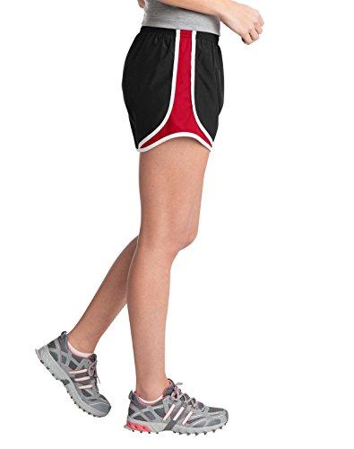 Sport-Tek - Short - Femme Multicolore - Black/True Red/White