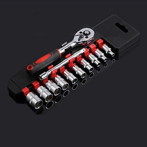 Clockeikan Reparatur 12x 1/4 Auto Sleeve Socket Set Pleuelstangen Kombinationswerkzeug