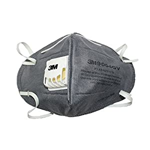 3M CL-900401 Anti-pollution Mask and Respirator, Grey, Pack of 1