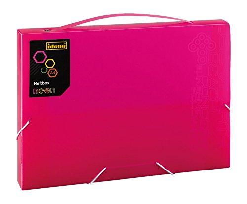 Idena 13860 Boîte de classement PP, DIN A4, 25 x 32 x 3 cm, Neon/Rose