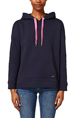 edc by ESPRIT Damen 028CC1J012 Sweatshirt, Blau (Navy 400), Medium