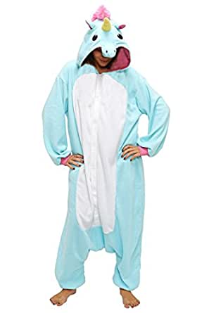 anebalrui damen herren jumpsuit overall fasching tier einhorn kost m fasching anime cosplay. Black Bedroom Furniture Sets. Home Design Ideas