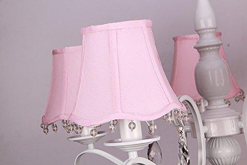 JILAN HOME- LED Europäische Pastoral Einfachheit Eisen Wohnzimmer Restaurant Rosa Mädchen Zimmer Wärmer Schlafzimmer Kinder Kronleuchter E14 ( größe : 64cm*50cm ) -