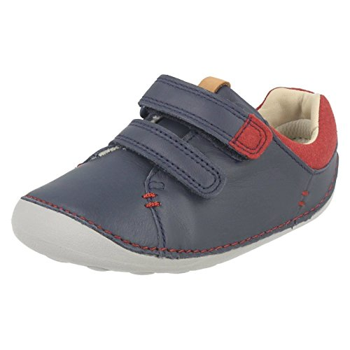 Clarks Tiny Toby Boys First Shoes 4 H Navy