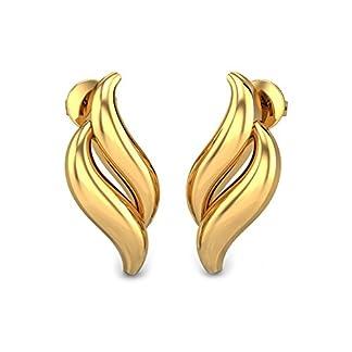 Candere By Kalyan Jewellers 22k (916) Yellow Gold Coralie Stud Earrings